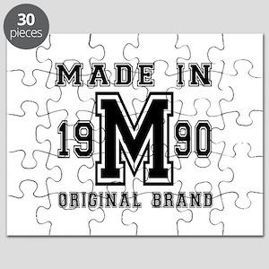 Made In 1990 Original Brand Birthday Design Puzzle