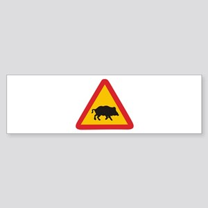 Traffic pig Bumper Sticker