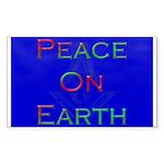 Masonic Peace on Earth Xmas Rectangle Sticker