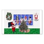 Masonic Christmas Greeting Rectangle Sticker