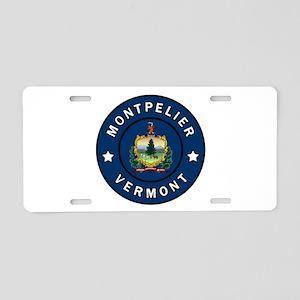 Montpelier Vermont Aluminum License Plate