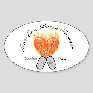 True love Army Wife Oval Sticker