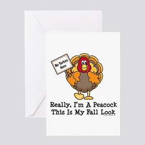 Funny turkey hunting greeting cards cafepress no turkey here thanksgiving greeting card m4hsunfo