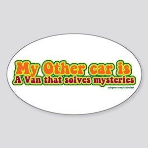 Mystery Van Oval Sticker