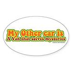 Mystery Van Oval Sticker