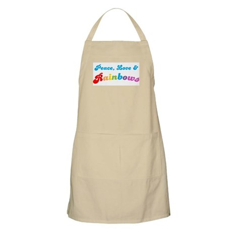 Peace Love And Rainbows BBQ Apron