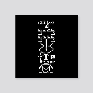 Arecibo Binary Message 1974 Sticker