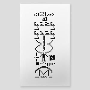 Arecibo Binary Message 1974 Sticker