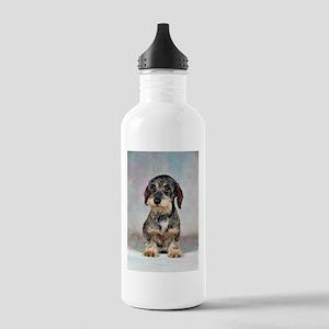 Wirehair Dachshund Stainless Water Bottle 1.0L
