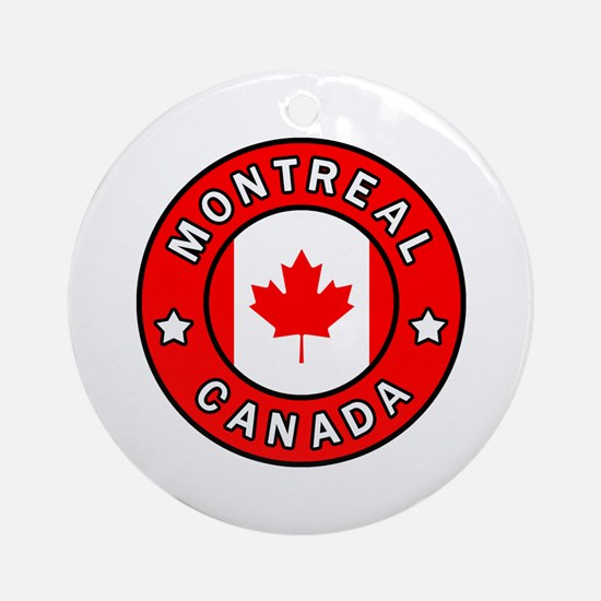 Cute Montreal Round Ornament