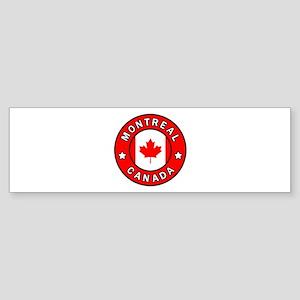Montreal Canada Bumper Sticker