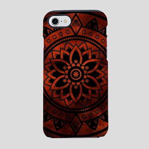 Burnt Orange & Black Pattern iPhone 8/7 Tough Case