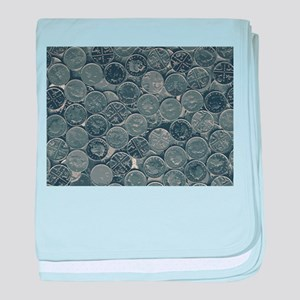 Coins baby blanket