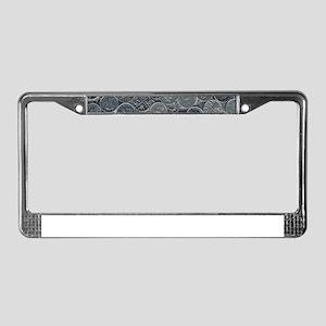 Coins License Plate Frame