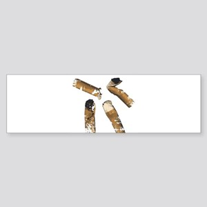 Cigarette Butts Bumper Sticker