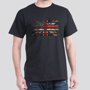 Grunge US UK Flag T-Shirt