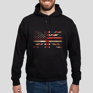 Grunge US UK Flag Sweatshirt