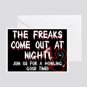 Freaky Party Invite Greeting Card