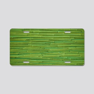 Bamboo Pattern Aluminum License Plate
