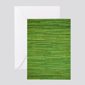 Bamboo Pattern Greeting Cards