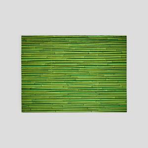 Bamboo Pattern 5'x7'Area Rug