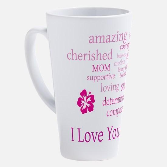 Cute I love you mom 17 oz Latte Mug