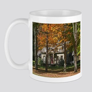 Country Stone House In Autumn Mug