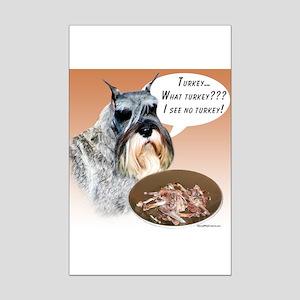 Mini Schnauzer Turkey Mini Poster Print