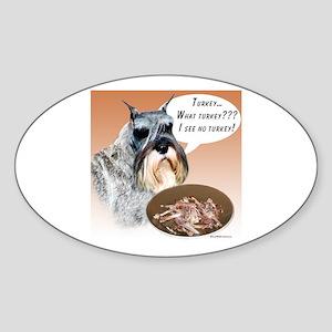 Mini Schnauzer Turkey Oval Sticker