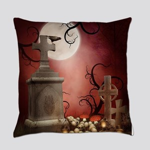 Gothic Tombstone Everyday Pillow
