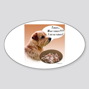 Norfolk Turkey Oval Sticker