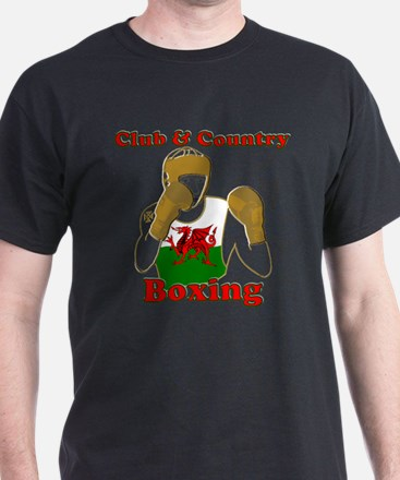 Wales club and country boxing T-Shirt