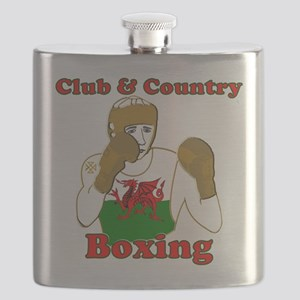 Wales club and country boxing Flask