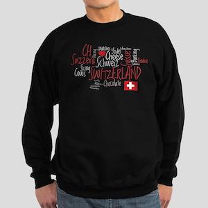 I Love Switzerland - For Dark Clothing Sweatshirt