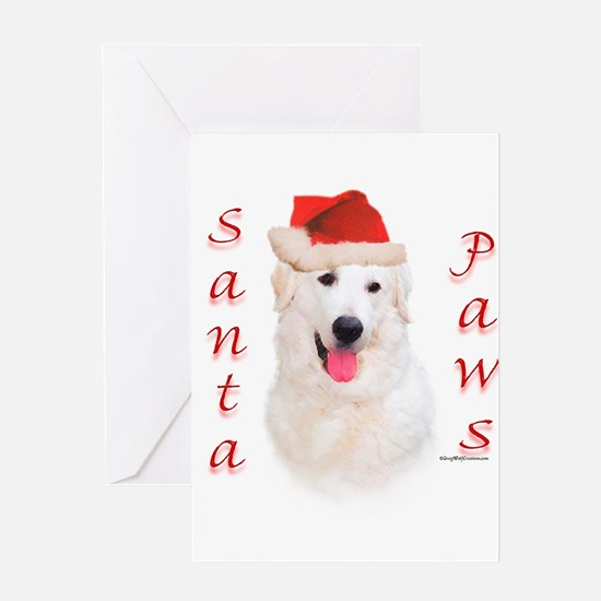Santa Paws Kuvasz Greeting Cards