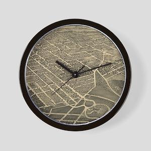 Vintage Pictorial Map of Winston-Salem Wall Clock