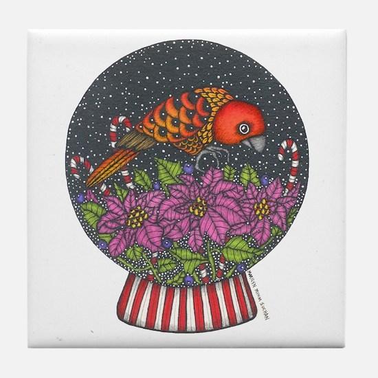 Buttercup's Snow Globe Tile Coaster