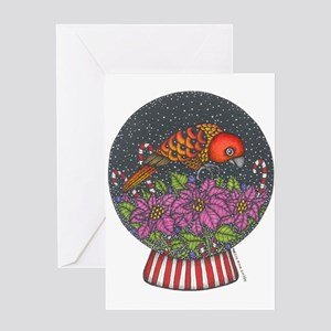 Buttercup's Snow Globe Greeting Card