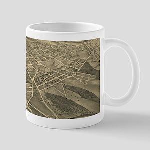 Vintage Pictorial Map of Winston-Salem NC (18 Mugs