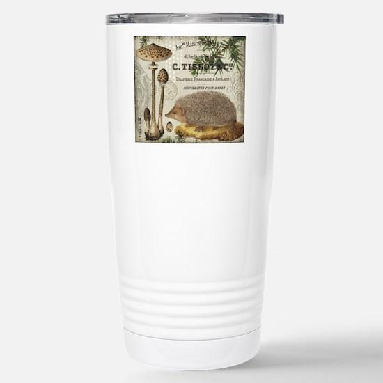 modern vintage woodland hedgehog Mugs