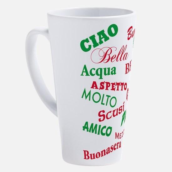 Cute Italian 17 oz Latte Mug