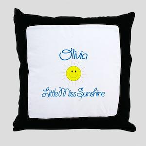 Olivia - Little Miss Sunshine Throw Pillow