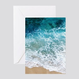 Water Beach Greeting Cards