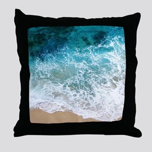Water Beach Throw Pillow