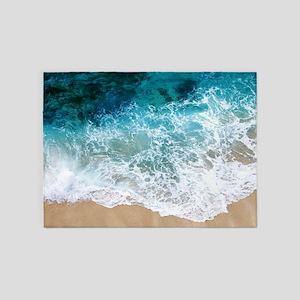 Water Beach 5 X7 Area Rug