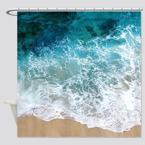 Water Beach Shower Curtain