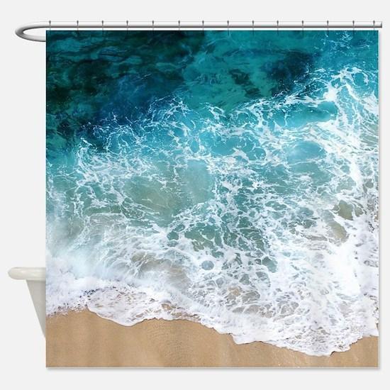 Water Beach Shower Curtain