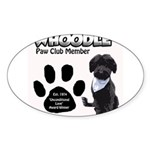 Whoodle Paw Club Member Sticker