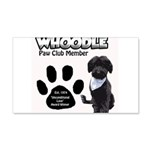Whoodle Paw Club Member Wall Decal