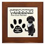 Whoodle Paw Club Member Framed Tile